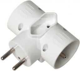 GTV Rozgałęziacz wtyczkowy 2x 2P+Z +1xEURO biały (AE-RU0121-00)