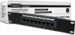 Digitus Patch panel kompletny 10cali 8x RJ45 (DN-91508U)