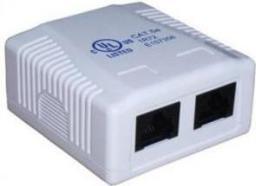 Digitus Gniazdo teleinformatyczne natynkowe 2x RJ45 UTP kat. 5e (DN-93804-1)