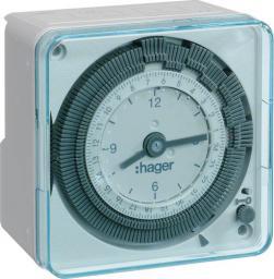 Hager Polo Zegar dobowy 1P/16A 230V 1moduł kompaktowy analogowy (EH710)