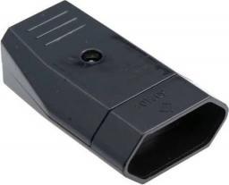 Pawbol Gniazdo płaskie b/u Euro 10A/250V czarne (D.3109C)