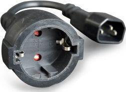 Kabel zasilający Gembird Kabel zasilający IEC320 C14 - Schuko 0,15m do UPS (PC-SFC14M-01)