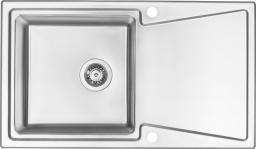 Deante Zlewozmywak  Fobos 1-komorowy z ociekaczem satyna (ZPF 0113)