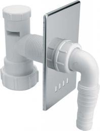Syfon do pralki i zmywarki McAlpine podtynkowy DN40 chrom (HC14WM40)
