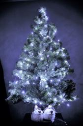 Lampki choinkowe Bulinex LED na baterie multicolor - RGB 50szt. (10-031)