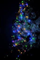 Lampki choinkowe Bulinex LED na baterie multicolor - RGB 100szt. (10-021)