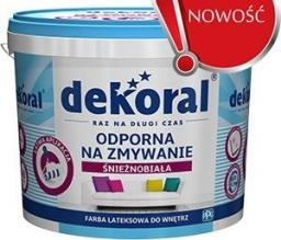 Farba emulsyjna Dekoral Odporna na zmywanie biała 5L
