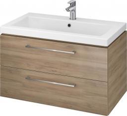 Zestaw szafka z umywalką Cersanit Lara 80cm orzech (5902115729690)