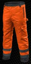 NEO Spodnie robocze ostrzegawcze ocieplane pomarańczowe rozmiar L (81-761-L)