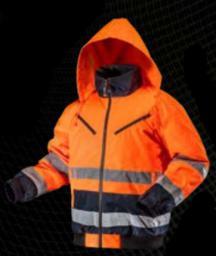 NEO Kurtka robocza ostrzegawcza ocieplana pomarańczowa rozmiar L (81-711-L)