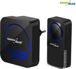GreenBlue dzwonek bezprzewodowy nadajnik-odbiornik, 52 melodie czarny, dotykowy, zasięg 300m, 230V (GB120)