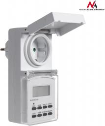Maclean Timer cyfrowy zewnętrzny Maclean Energy MCE08G 10 programów funkcja losowa 3600 W max 156