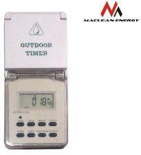 Maclean Timer cyfrowy zewnętrzny Maclean Energy MCE08 10 programów funkcja losowa 3600 W max 156 programów - MCE08
