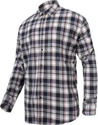 Lahti Pro Koszula flanelowa bawełniana szaro-czarna w kratę rozmiar XXXL (L4180406)