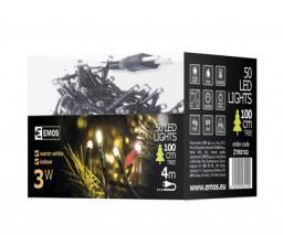 Lampki choinkowe Emos Xmas zyk LED na kabel biały ciepły 50szt. (ZYK0102)