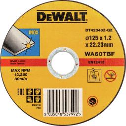 Dewalt Tarcza do cięcia stali nierdzewnej 125x1.2x22.2 płaskaka (DT42340Z)