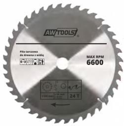 AWTOOLS Piła tarczowa do drewna 125 x 22mm 24z (AW48453)