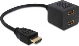 Delock HDMI HDMI x2, Czarny (65226)