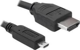 Kabel Delock HDMI Micro - HDMI 1m czarny (82661)