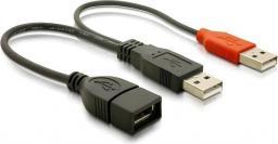 Kabel USB Delock PRZEDŁUŻACZ USB 2.0 2xAM-AF (65306)