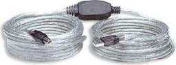 Kabel USB Manhattan Kabel USB 2.0 A-B M/M aktywny 11m (510424)