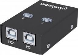 Przełącznik Manhattan Przełącznik automatyczny Hi-Speed USB 2.0 2 PC (162005)