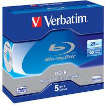 Verbatim BD-R BLU-RAY 6x 5P Jewel 25 GB 43715