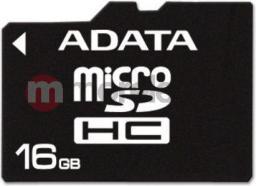Karta ADATA MicroSDHC 16GB Class 4 + adapter (AUSDH16GCL4-RA1)