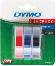 Dymo taśmy do wytłaczarek 3D czerwony/niebieski/czarny (s0847750) nadruk biały