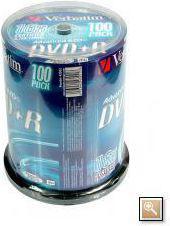 Verbatim DVD+R/100/Cake 4.7GB 16x 43551