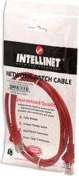 Intellinet Network Solutions patch cord RJ45, snagless, kat. 5e UTP, 1m czerwony (318952)