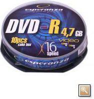 Esperanza DVD-R/10/Cake 4.7GB 16x