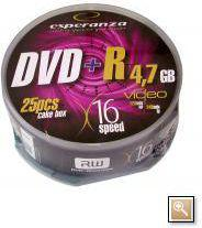Esperanza DVD+R/25/Cake 4.7GB 16x