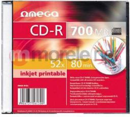 Omega CD-R 700MB 52X SLIM CASE*10 [56104]