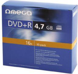 Omega DVD+R 4,7GB 16X SLIM CASE*10 [56823]