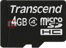 Karta MicroSD Transcend Micro SDHC 4GB Card Class 4 - TS4GUSDC4