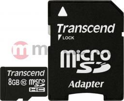 Karta Transcend MicroSDHC 8 GB Class 10 UHS-I  (TS8GUSDHC10)