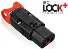 Kabel zasilający Assmann Złącze zasilające do zarobienia Assmann IEC LOCK + OPEN/IEC C13 Ż - IEC-PA130100BK