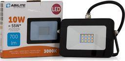 Lampa stołowa Abilite NAŚWIETLACZ LED ABILITE B.CIEPŁY 10W/230V 700LM 120° MATRIX IP66 OBUD. PŁASKA CZARNA N - 5901583548857