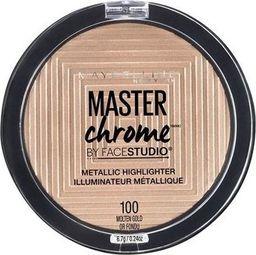 Maybelline  New York Master Chrome Metallic Highlighter 100 Molten Gold Puder rozświetlający 6,7g