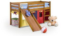 Halmar NEO PLUS - łóżko piętrowe ze zjeżdżalnią i materacem - olcha