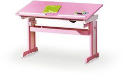 Halmar CECILIA biurko różowo - białe