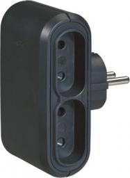 Legrand HELMO Rozgałęźnik wtyczkowy Euro 4x2P 6A czarny (50651)