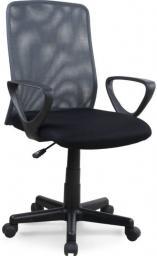 Halmar ALEX fotel pracowniczy czarno-szary
