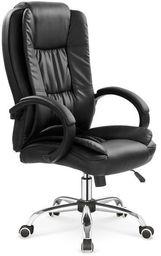 Halmar RELAX fotel gabinetowy czarny
