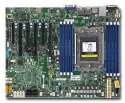 SuperMicro Motherboard ATX Socket SP3 Single AMD EPYC 7000, do 1TB DDR4 Reg ECC 2666MHz 8 DIMM slots, 16 SATA3, 1 M.2, Dual Gigabit LAN ports, IPMI 2.0 + KVM, TPM 1.2 (H11SSL-I/BULK)