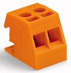 Szybkozłączka WAGO do transformatorów 2x 1,5-2,5mm2 pomarańczowa (200-605/999-991)