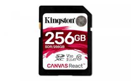 Karta pamięci Kingston SD 256GB Canvas React 100/80MB/s U3 UHS-I V30 A1 (SDR/256GB)