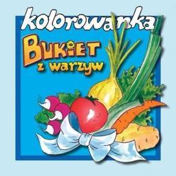 Kolorowanka - Bukiet warzyw