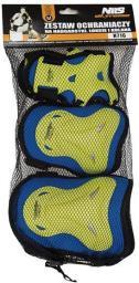 NILS Extreme Zestaw ochraniaczy H716 granatowo-limonkowy r. L